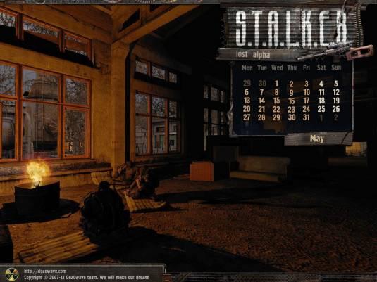 S.T.A.L.K.E.R. Lost Alpha, календарь, скриншоты