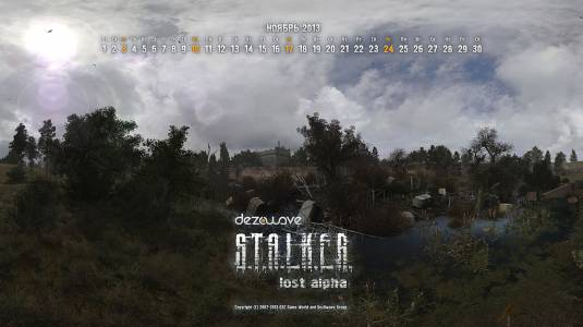 S.T.A.L.K.E.R. Lost Alpha, календарь и скриншоты
