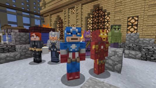 Minecraft: Xbox 360 Edition с героями Marvel