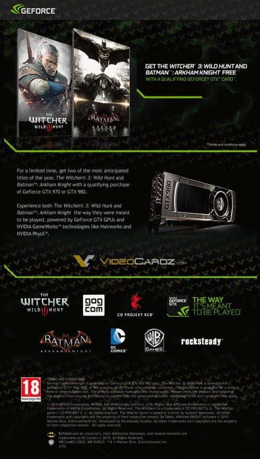 Бесплатные игры с GeForce GTX 970 и GTX 980