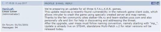 GSC выпустила новый мультиплеерный патч для игр серии S.T.A.L.K.E.R.