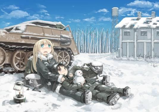 """Аниме """"Последнее путешествие девушек в постапокалиптическом мире"""""""