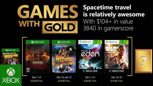 Xbox Live Games With Gold - декабрь 2017