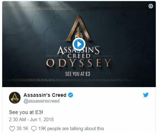 Ubisoft подтвердила Assassin's Creed Odyssey и показала короткий тизер