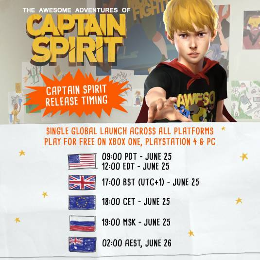 The Awesome Adventures of Captain Spirit - точное время релиза