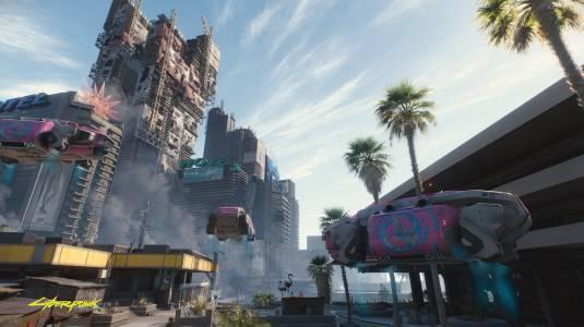 Большие дома на новом скриншоте Cyberpunk 2077
