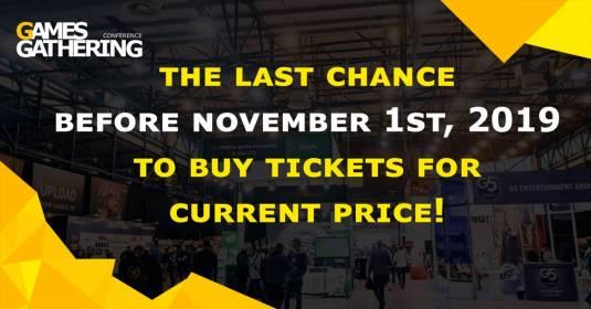 Games Gathering 2019: успейте приобрести билеты по старой цене!