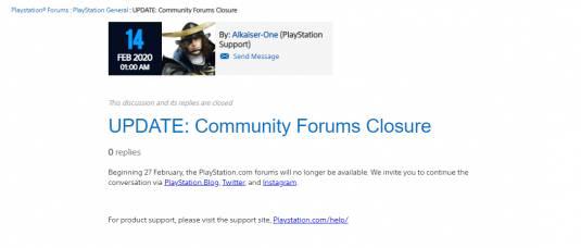 """""""Осторожно, форумы PlayStation закрываются, cледующая остановка - «Пишите в соцсети»"""""""