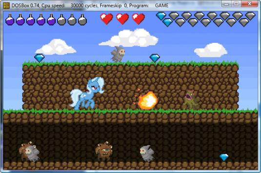 Игры с понями под DOS